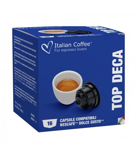 Home Italian Coffee - Top Deca (Decaf) for Dolce Gusto® - 16 Capsules ITCOFFDEK