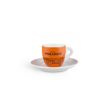 "Home Mokarico - Set of 6 Cups + Saucers \""Ponte Vecchio\\"" for Espresso MOKRCPV6ESP"