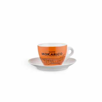 "Home Mokarico - Set of 6 Cups + Saucers \""Ponte Vecchio\\"" for Cappuccino MOKRCPV6ESP"