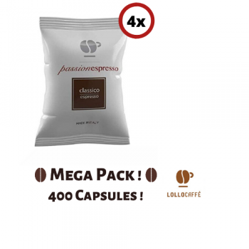 Home MEGA PACK! 400 Capsules - Lollo Caffè Classico (Suitable for Nespresso®) LOLCAFCLAS400