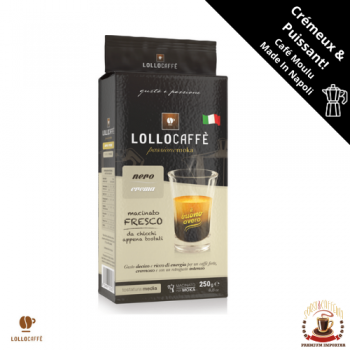 Accueil Café Moulu - Lollo Caffè Nero - 250gr LOLLO-MN