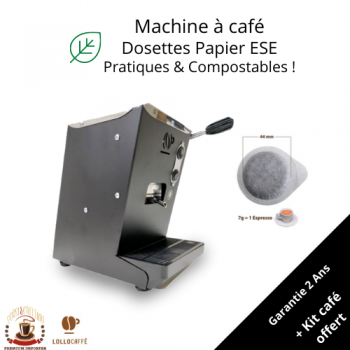 Home FREE DELIVERY + 40x ESE Pods Gift ! Aroma/Lollo Caffè - LOLLINA - Coffee Machine for 44mm ESE Pods/Cialde LOLLINA44