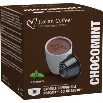 Accueil Italian Coffee - ChocoMint pour Dolce Gusto® - 16 Capsules (Choco Menthe) ITCOFCHOMNT